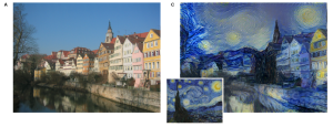 Figure 1 - row houses and starry night